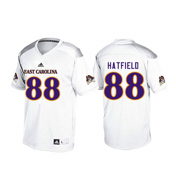 Men #88 Jsi Hatfield ECU Pirates College Football Jerseys Sale-White