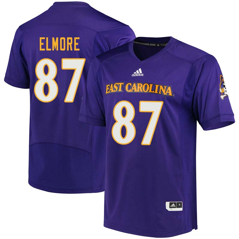Men #87 Gaelin Elmore East Carolina Pirates College Football Jerseys Sale-Purple