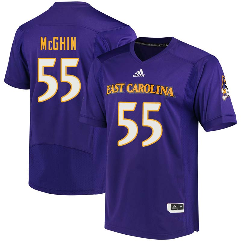 Men #55 Garrett McGhin East Carolina Pirates College Football Jerseys Sale-Purple