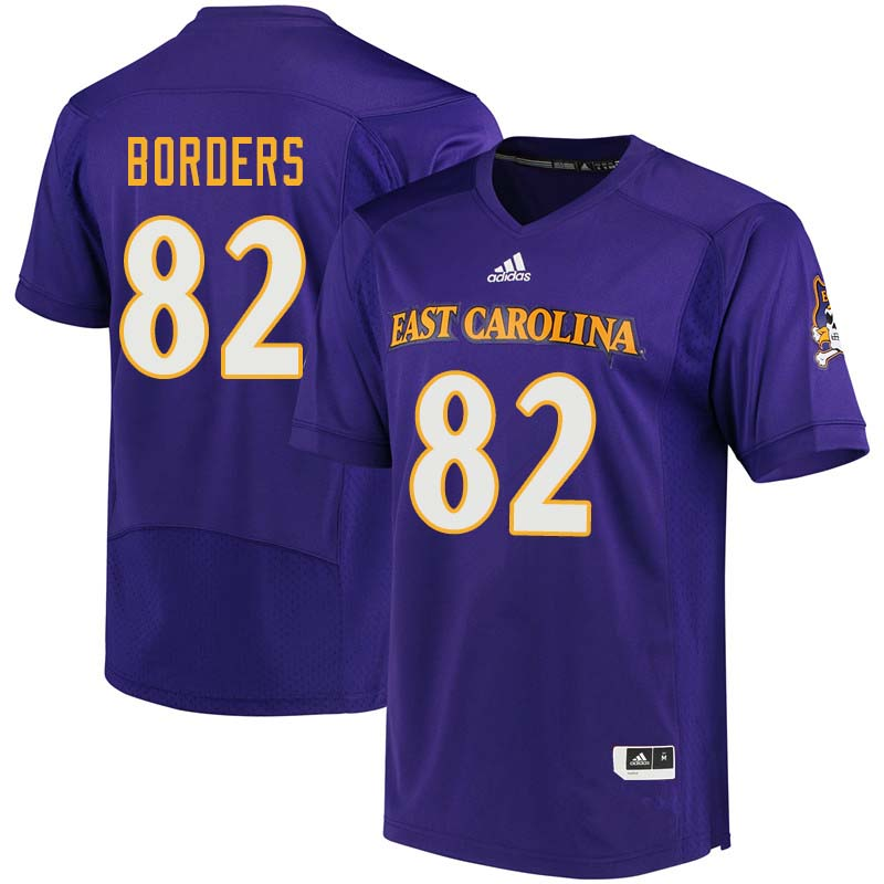 Men #82 Jayden Borders East Carolina Pirates College Football Jerseys Sale-Purple