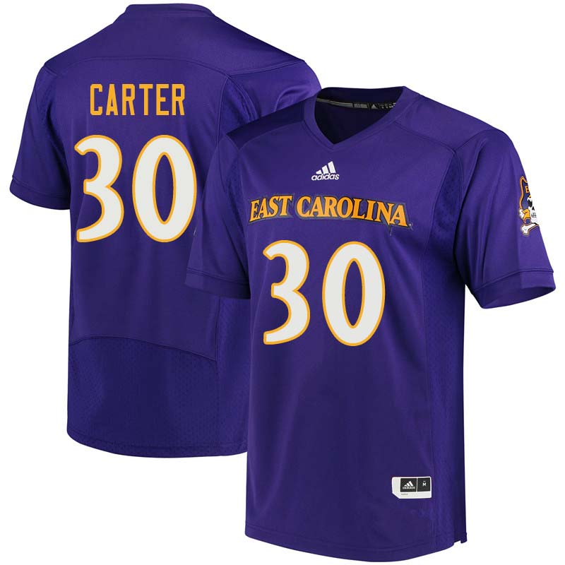 Men #30 Joe Carter East Carolina Pirates College Football Jerseys Sale-Purple