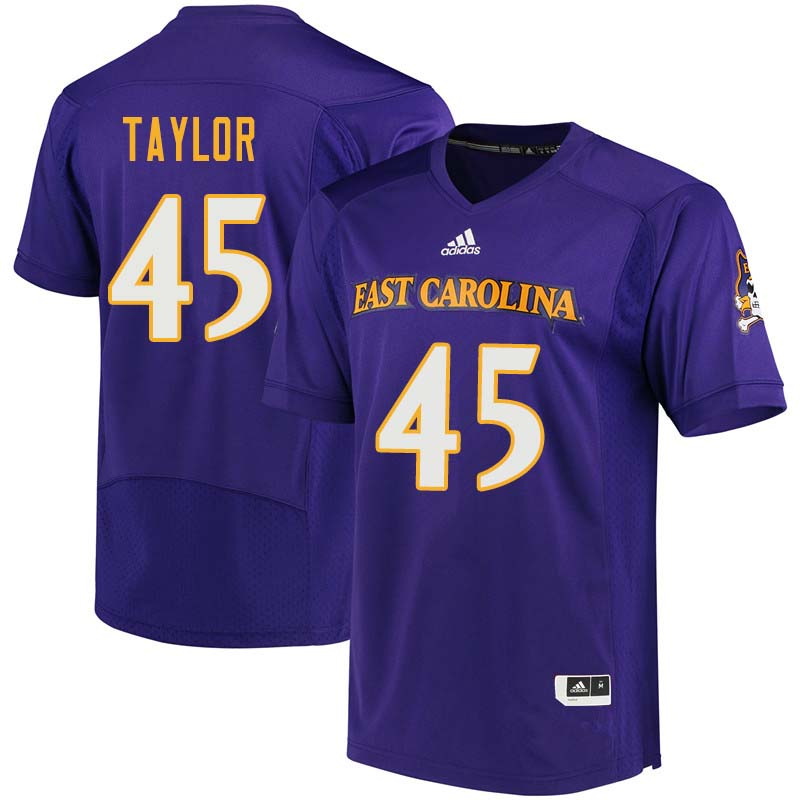 Men #45 Kenyon Taylor East Carolina Pirates College Football Jerseys Sale-Purple