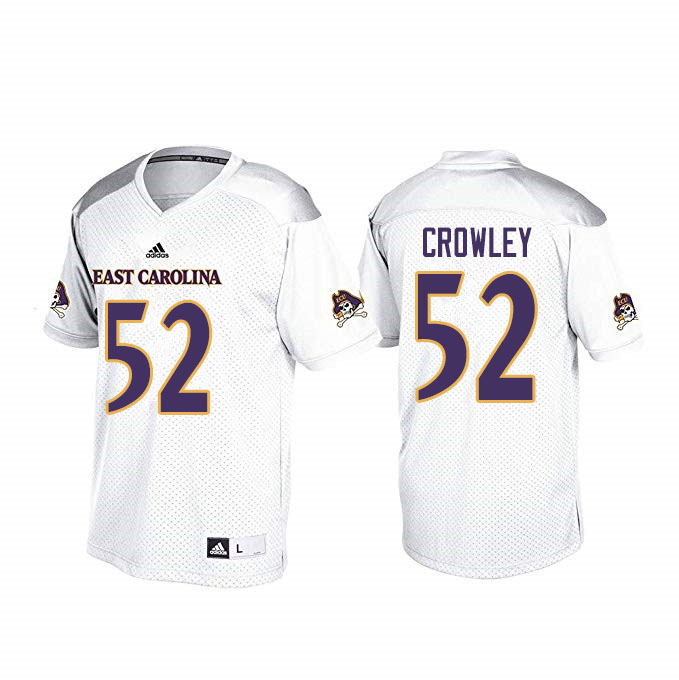 Men #52 Liam Crowley ECU Pirates College Football Jerseys Sale-White