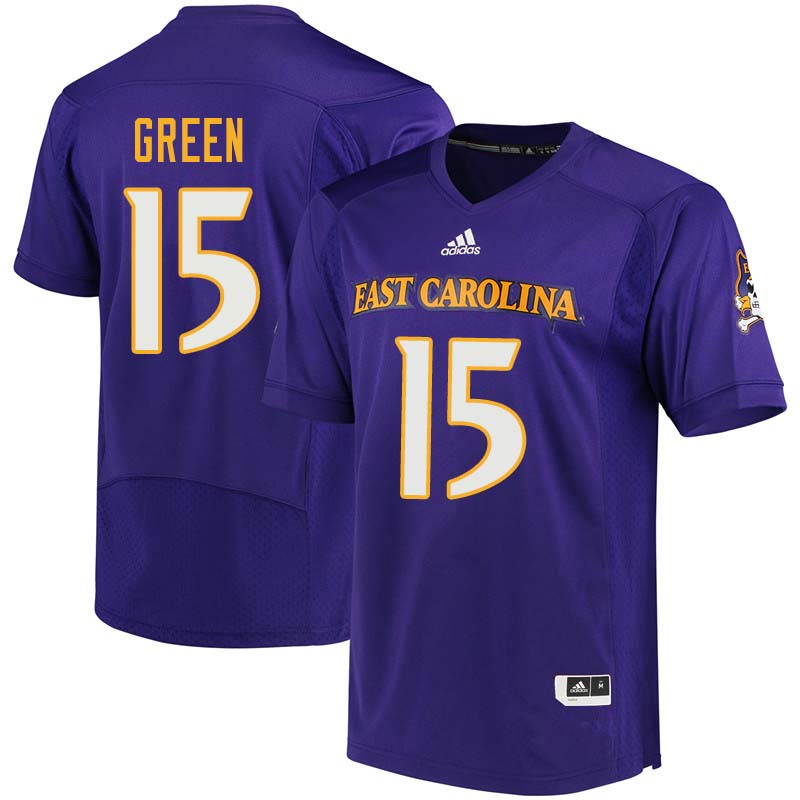 Men #15 Terrell Green East Carolina Pirates College Football Jerseys Sale-Purple