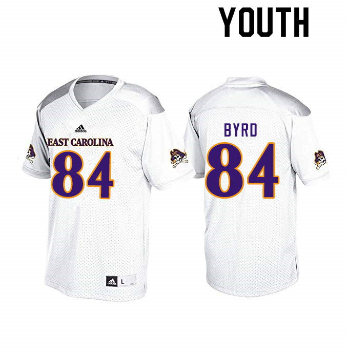 Youth #84 Zech Byrd ECU Pirates College Football Jerseys Sale-White