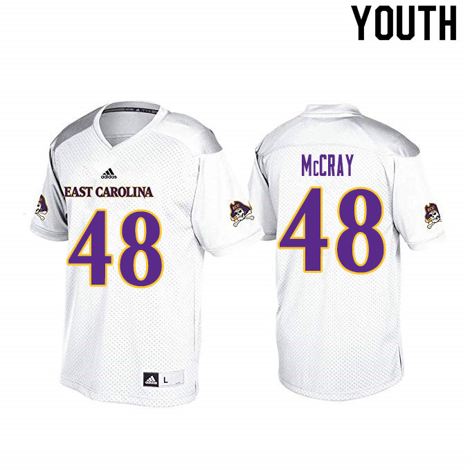 Youth #48 J'Vian McCray ECU Pirates College Football Jerseys Sale-White
