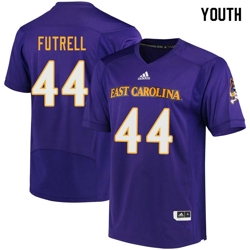 Youth #44 Kendall Futrell East Carolina Pirates College Football Jerseys Sale-Purple